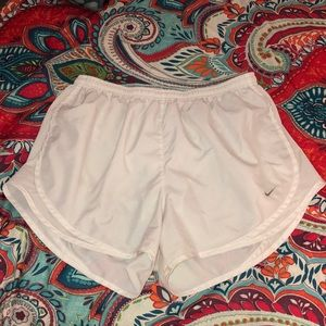 White Nike Shorts Dry Fit